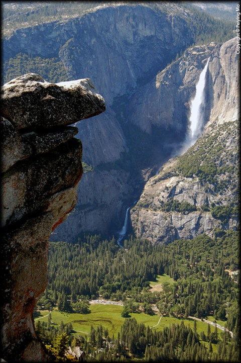Yosemite Falls and the Village from Glacier Point