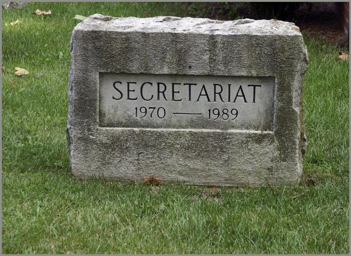 Gravesite of Secretariat
