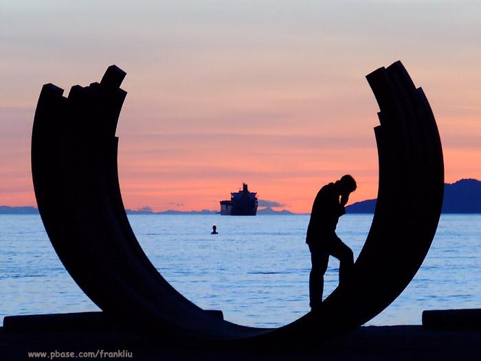 Sculpture on Sunset Beach