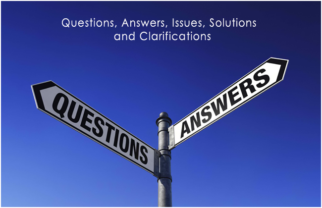 Questions, Answers, Issues, Solutions and Clarifications Photo ...
