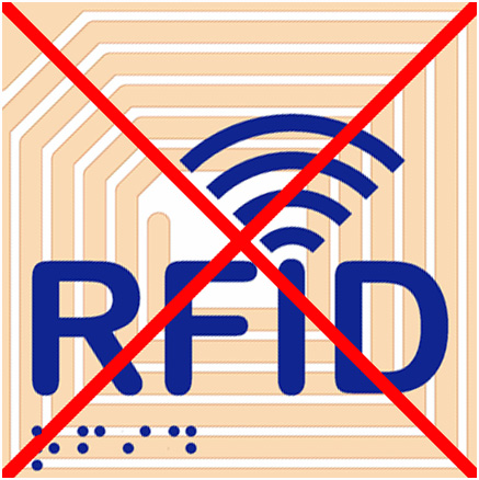 No RFID chips or tracking