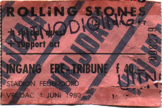 1982/06/04 Stones Ticket Stub