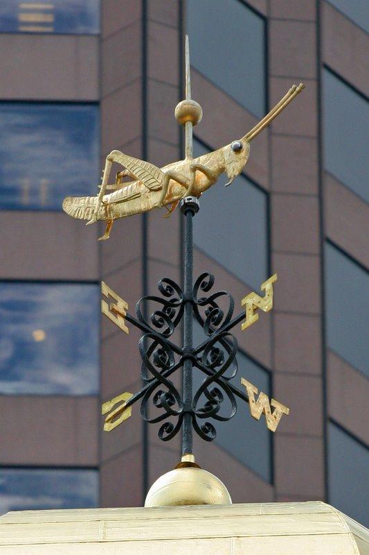 Faneuil Hall Detail - Grasshopper Weathervane Closeup