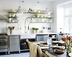 Scandinavian Kitchens   Open Shelving Ideas