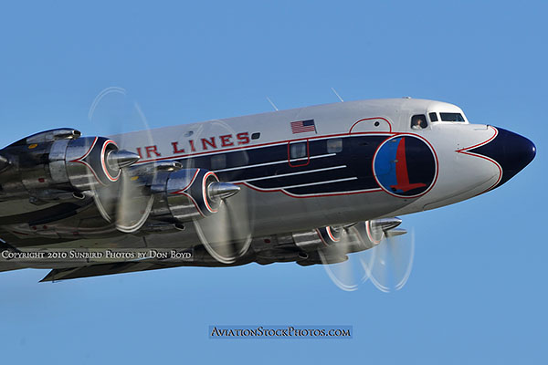 2010 - Historical Flight Foundations restored Eastern Air Lines DC-7B N836D aviation airline stock photo #5730