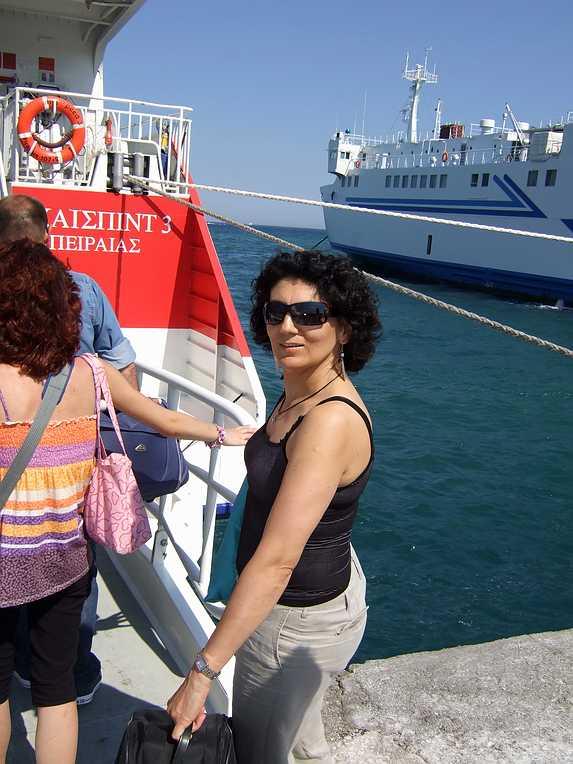 Boarding HighSpeed 3 to Naxos
