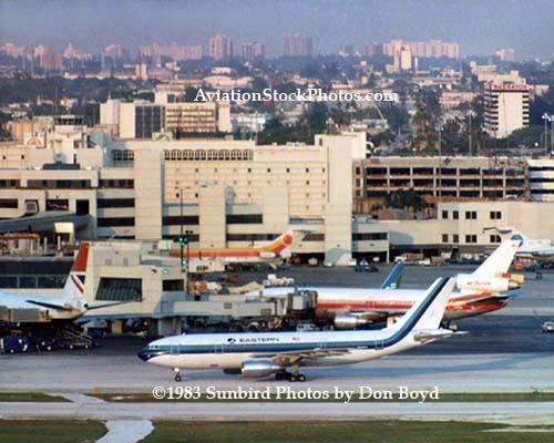 1983 - British Airways B747, Eastern Airlines A-300, Air Jamaica B727, Air Florida DC-10 and B737 and Pan Am B727 at MIA