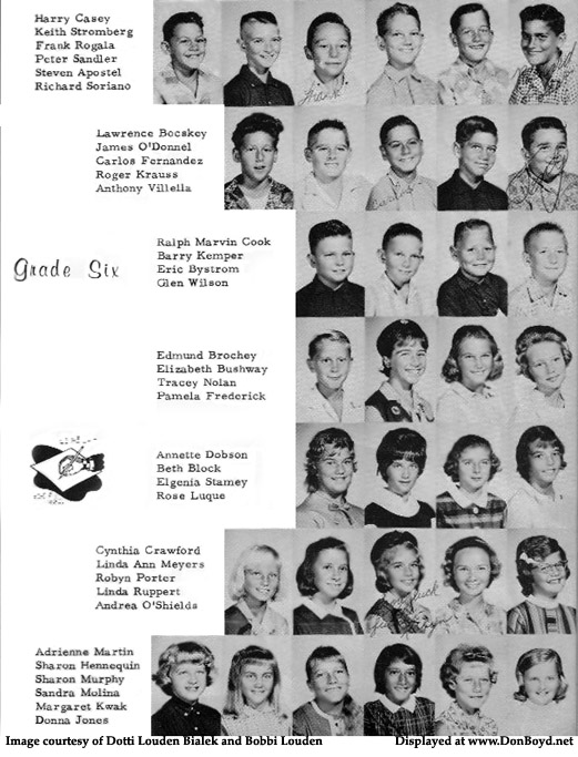 1963 - 6th grade class at Dr. John G. DuPuis Elementary School, page 2