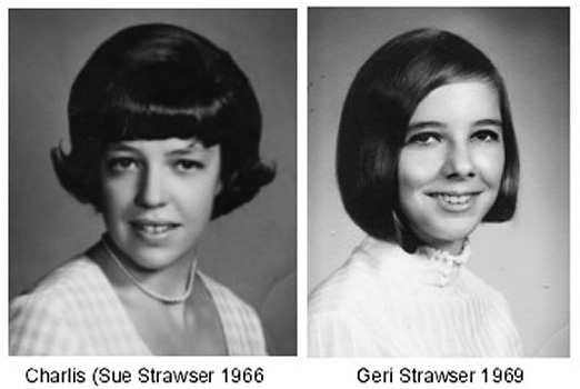 Charlis - Sue Strawser in 1966 and her sister Geri Strawser in 1969 when both were juniors at Miami Beach Senior High