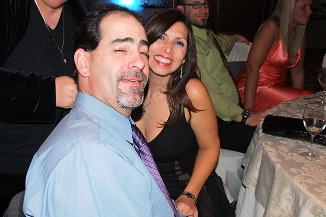 February 2010 - Little John Pena and his wife at the Steven Elizarde / Maggie Balance wedding reception
