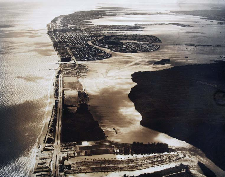 1962 - Aerial view of Haulover beach county park, Haulover Inlet, Bal Harbour, Surfside and Miami Beach