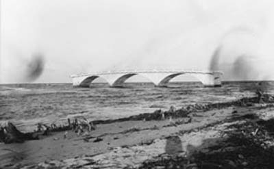 1926 - Bakers Haulover bridge after the Hurricane of 1926