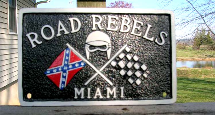 1956 - Bobby Zlatkins Road Rebels Miami Plaque