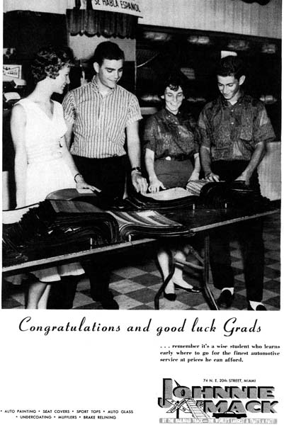 1960 - Johnnie & Mack Ad featuring Rita Gruber, Ivan Feller and Gail Fisher plus forgotten name fellow