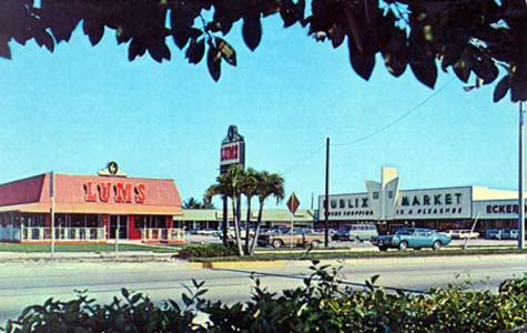 1970s - a newer larger Lums, a Publix and an Eckerd Drugs on US 441 and Margate Boulevard