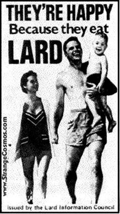 1950s? - Lard Information Council advertisement  (a spoof, not real)