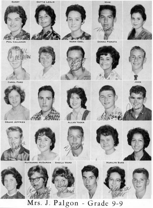 1962 - Grade 9-9 at Palm Springs Junior High School, Hialeah
