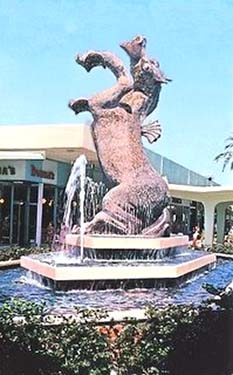 1960s - the Sea Horse fountain at Dadeland Shopping Center