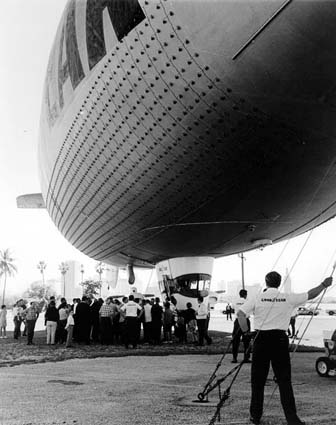 Late 1960s - the Goodyear Blimp GZ-19 Mayflower N1A on Watson Island
