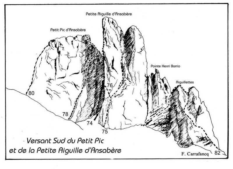 032-Petit Pic et Petite Aiguille dAnsabère-It; 74/. 75/. 77/. 78/. 79a/. 79b/.79c/.