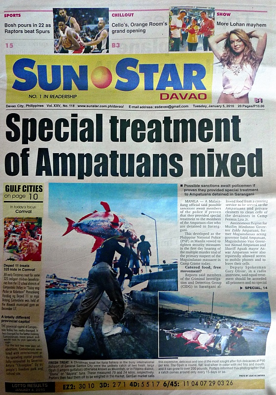 Front page SunStar