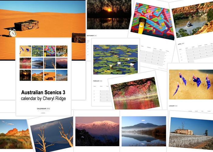 Australian Scenics calendar created on Redbubble