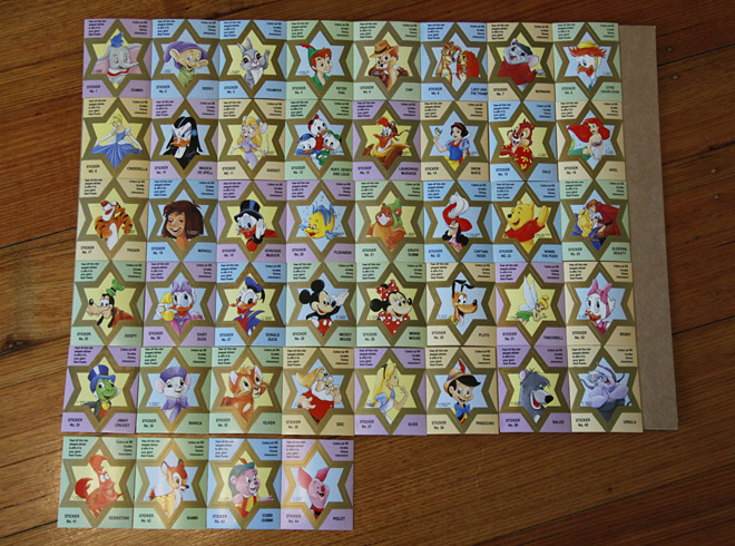 WANTED Magical World of Disney star shape stickers
