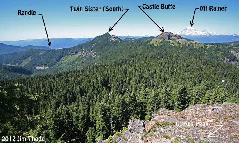 Looking north from Cispus Peak