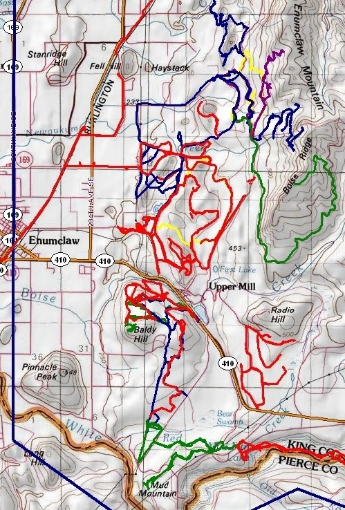 Enumclaw Foothills trails GPS by EFFRA members