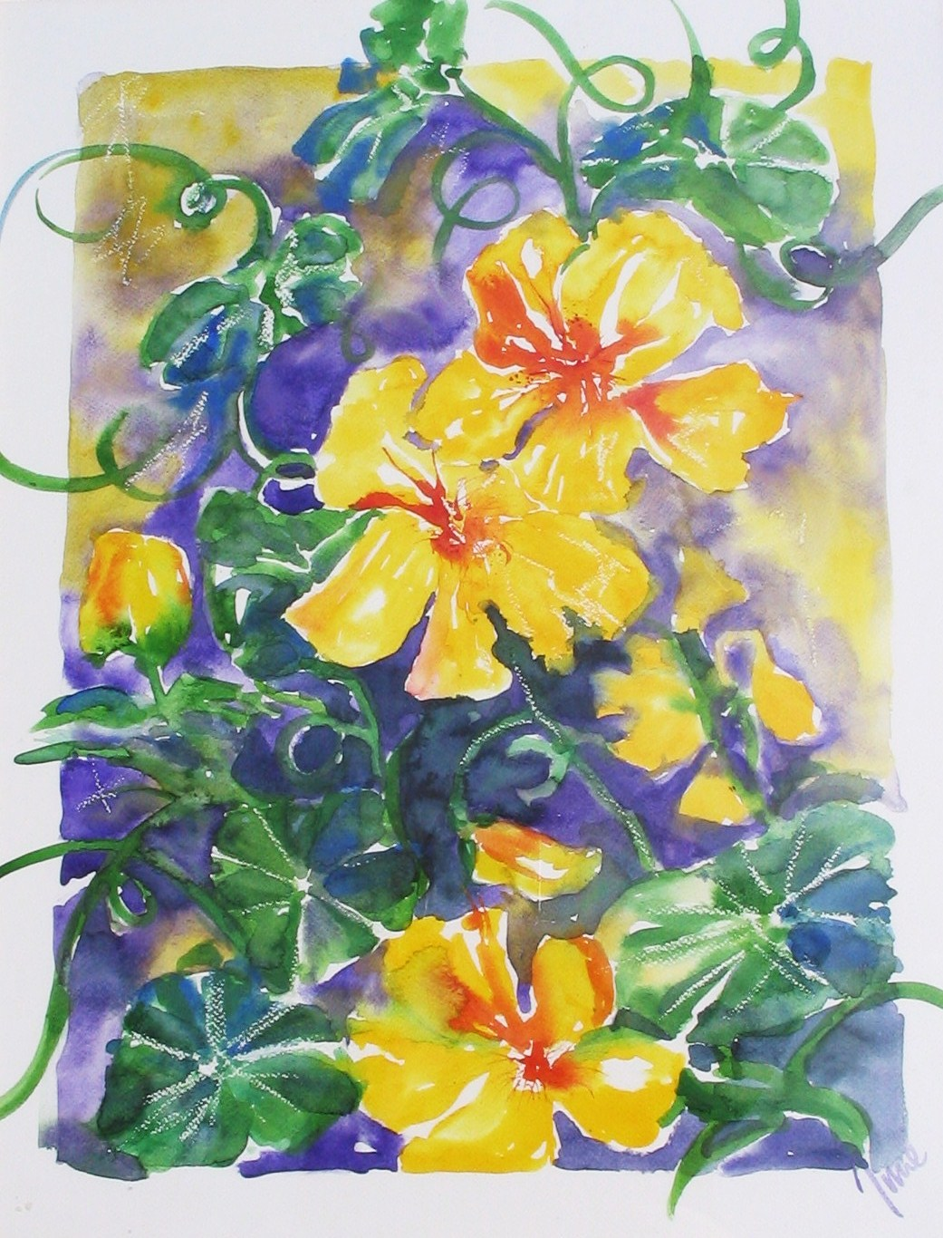 Yellow Flowers £300 inc frame