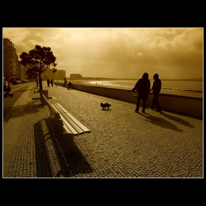 ... walking ...