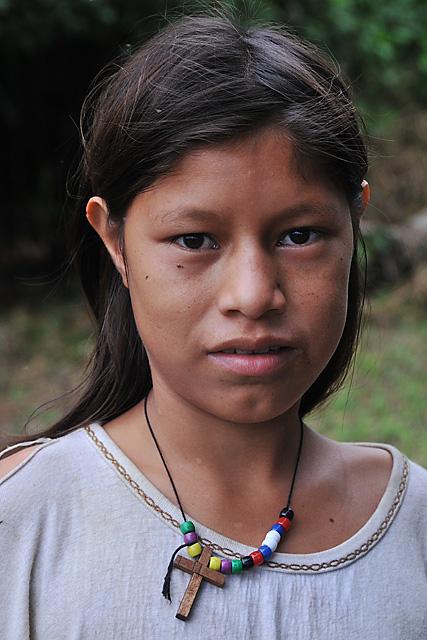 Yuqui Girl - Bia Recuate, a Yuqui village on the Rio Chimore