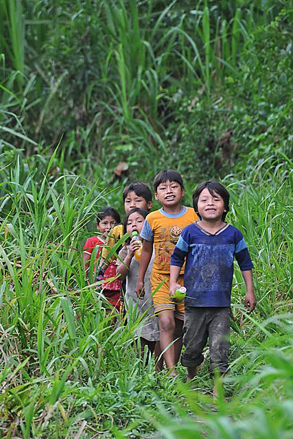 Yuqui Children - Bia Recuate, a Yuqui village on the Rio Chimore