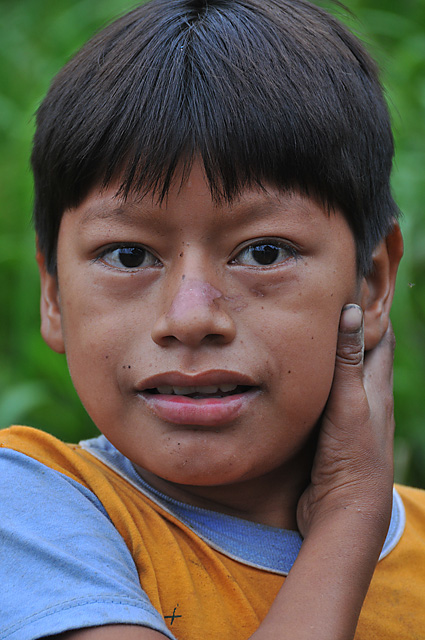 Yuqui Boy - Bia Recuate, a Yuqui village on the Rio Chimore