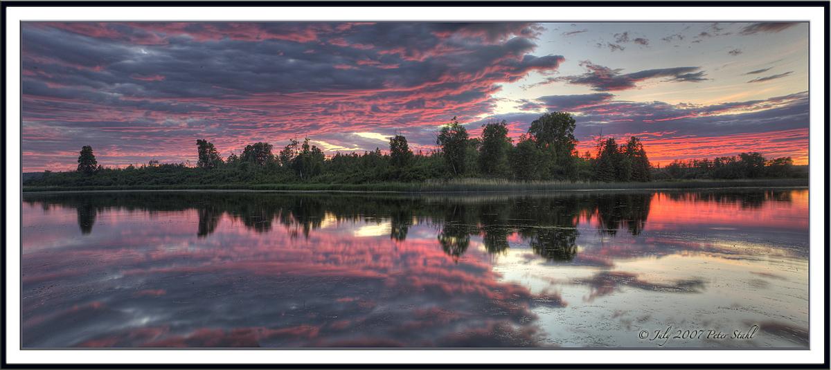 Evening sunset Isle lakejpg