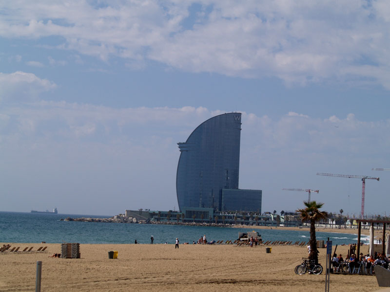 Modern Building on Beach