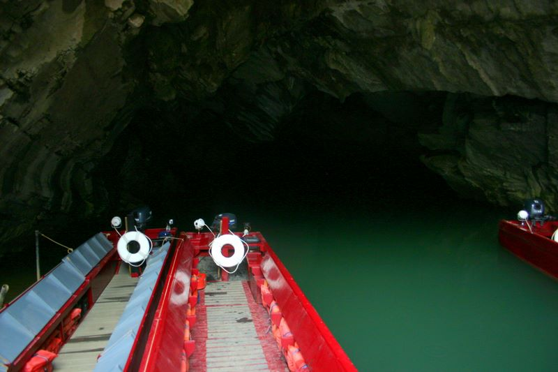 The boats to the caves, Penns Caves, PA
