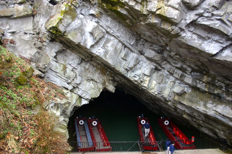 Entrance to Penns Caves, PA