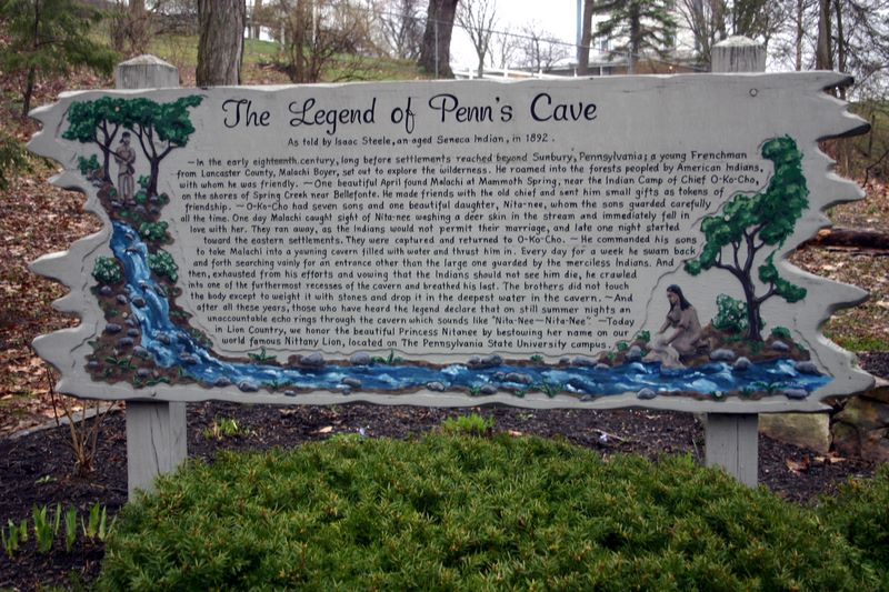 Legend of Penns Cave and Princess Nita-nee, Penns Caves, PA