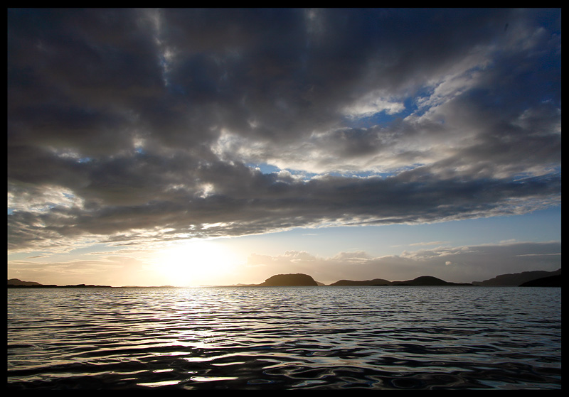Sunset towards Lyngvar