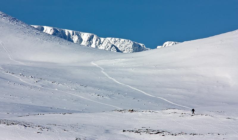 On the way up Lochnagar