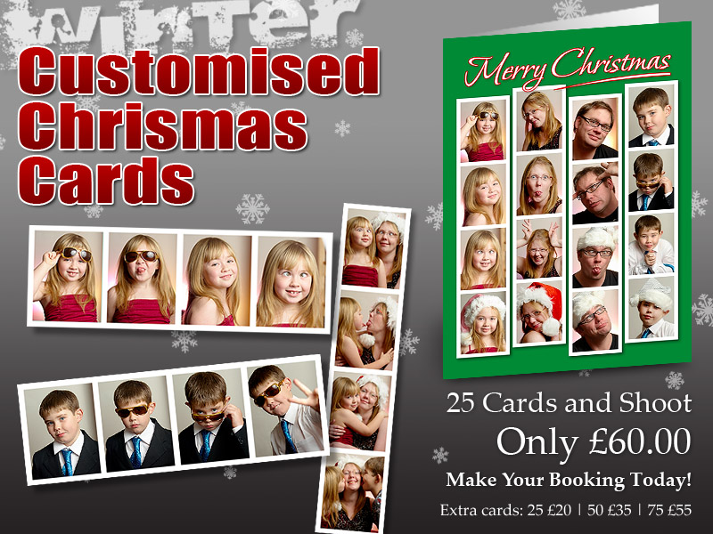 Customised Christmas Cards. Photography by Robert Whetton Photographer