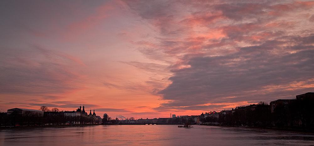 Copenhagen Winter Sunset Cloudscape