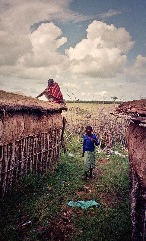 Maasai Roofers!