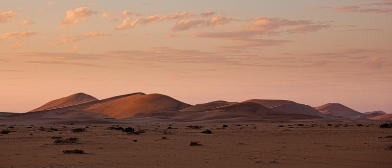 Walvis Bay dunes at dusk
