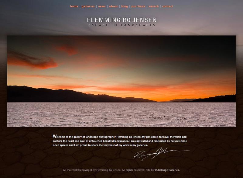 Flemming Bo Jensen launches new website - Escape in Landscapes