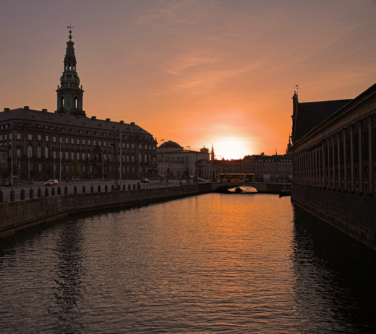 Christiansborg sunset