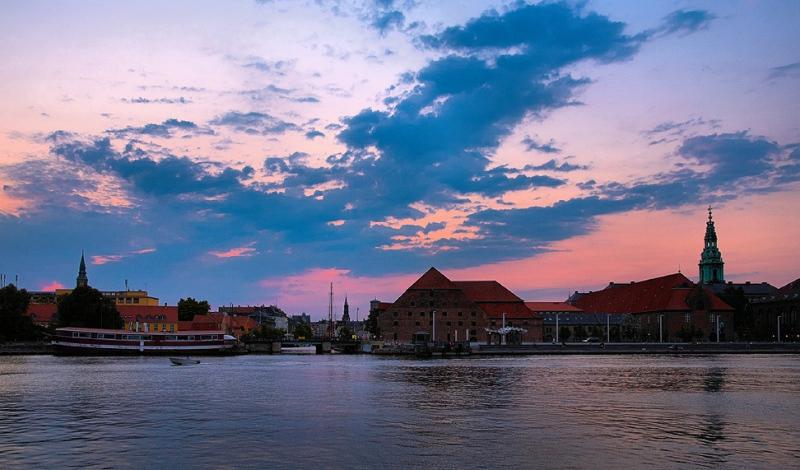 Harbour cloudscape after sunset