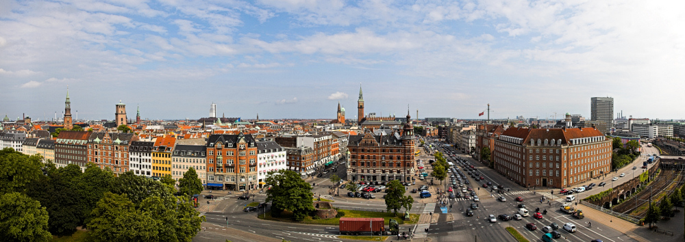 Copenhagen Panorama - from Jarmers Plads