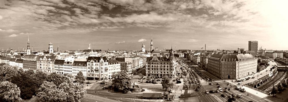 Copenhagen Panorama - sepia